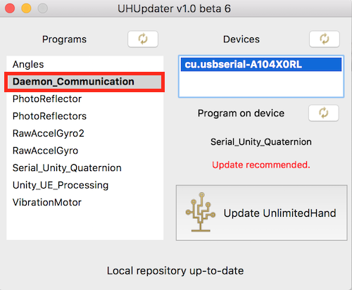 Use uh device manager as unity plugin unlimitedhand