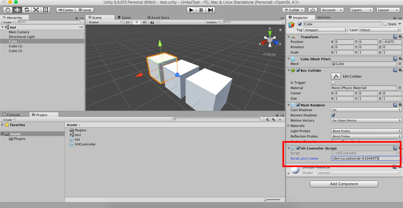 How to run uhdevicemanager and sample unity project